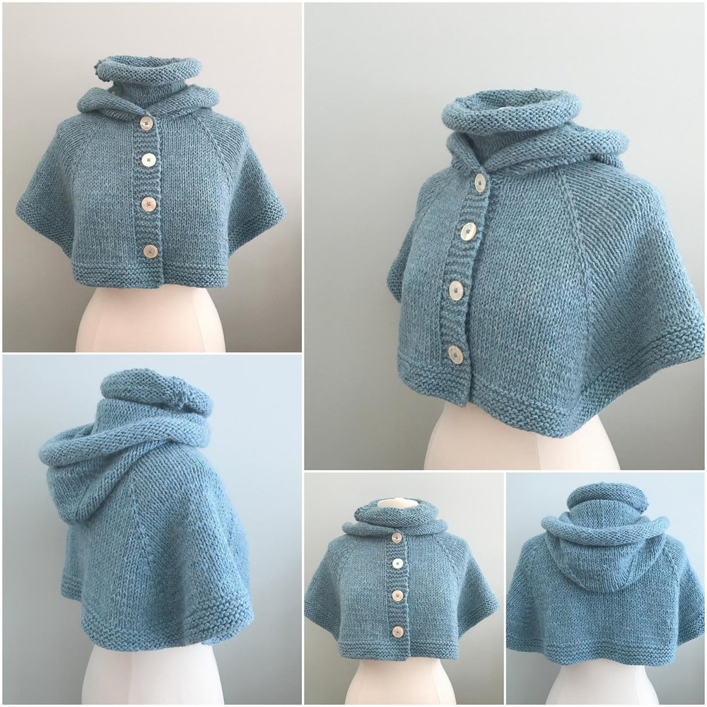 Wynter Chill Hooded Cape Knitting pattern by Grace Rose