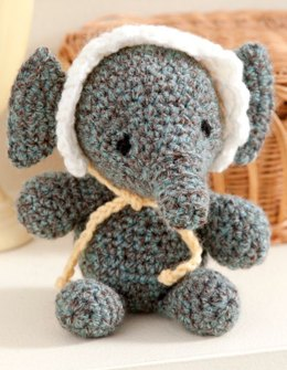 Baby's Elephant in Red Heart Super Tweed - LW2753
