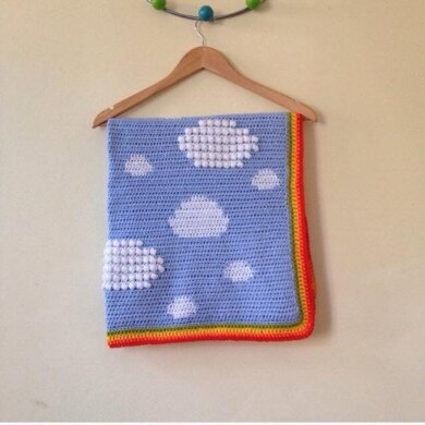 Little Fluffy Clouds Baby Blanket