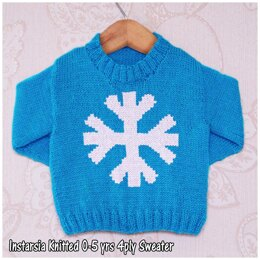 Intarsia -  Breezy Snowflake - Chart Only