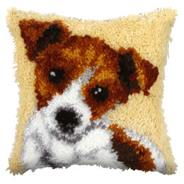 Orchidea Jack Russell Latch Hook Cushion Kit