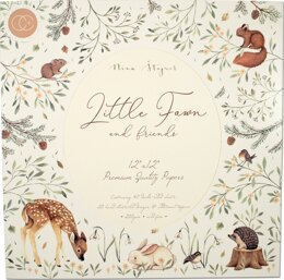 "Craft Consortium Double-Sided Paper Pad 12""X12"" 40/Pkg - Little Fawn & Friends"