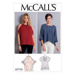 McCall's Misses' Tops M7750 - Sewing Pattern