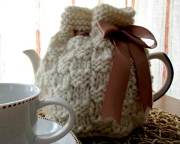 Chunky Textured Squares Tea Cosy
