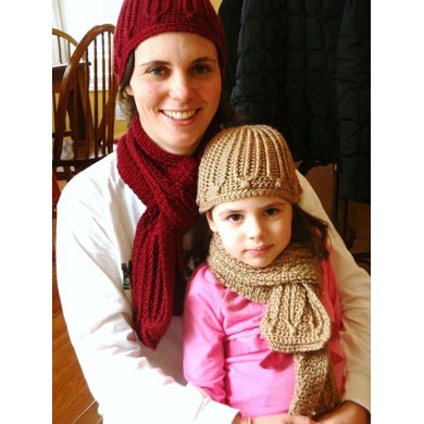 Keyed Pathways Hat and Scarf Set