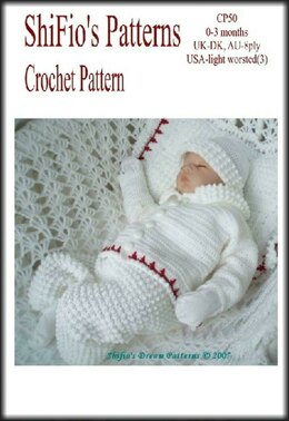 Crochet Pattern boys set with blanket UK & USA Terms #50