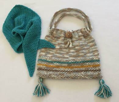 Saturday Satchel, with Matching Neck Scarf/Head Scarf