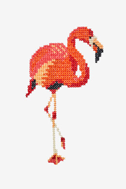 Flamingo in DMC - PAT0394 - Downloadable PDF