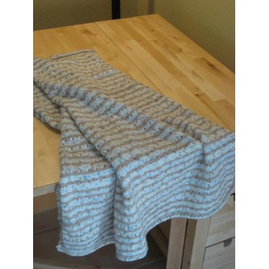 Staggered Eyelets Baby Blanket