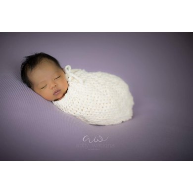 Chevron Ridges Baby Cocoon or Swaddle Sack