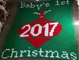 Baby's First Christmas 2017 Blanket