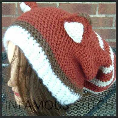 Red Panda Slouchy Hat Crochet Pattern By Infamous Stitch