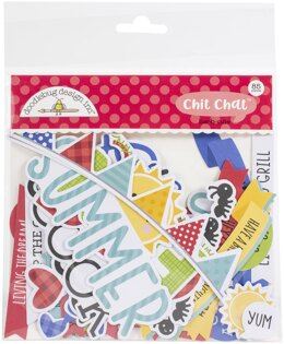 Doodlebug Odds & Ends Chit Chat Die-Cuts - Bar-B-Cute