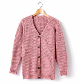 Child's Crochet V-Neck Cardigan in Caron Simply Soft - Downloadable PDF
