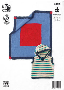 Boys' Sweater, Pullover and Blanket in King Cole Cottonsoft DK - 3862