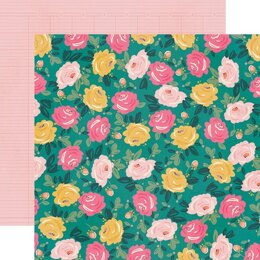 """Simple Stories I Am Double-Sided Cardstock 12""""X12"""" 25/Pkg - Blooming"""