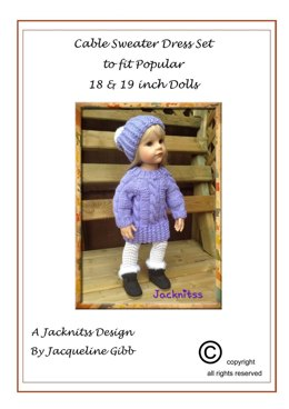 63 Cable Sweater Dress Set