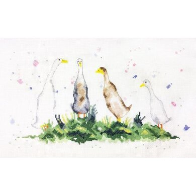 Creative World of Crafts Gaggle of Geese Cross Stitch Kit - Multi