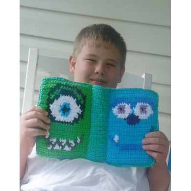 "Bound Book Style 7"" Tablet Cover - Mike and Sulley"