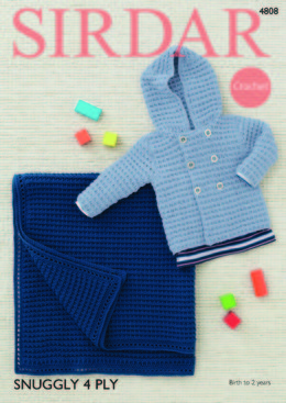 Boys Jacket and Blanket in Sirdar Snuggly 4 Ply 50g - 4808