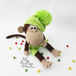Naughty monkey in a beret