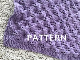 Pine Cone Baby Blanket in Loopy Mango Summer - Downloadable PDF