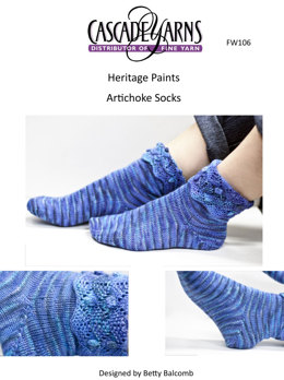 Artichoke Ankle Socks in Cascade Heritage Paints - FW106