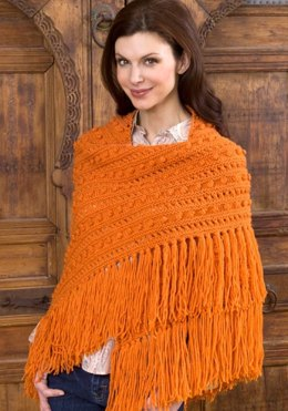 Popcorn Shawl in Red Heart Super Saver Economy Solids - LW2511