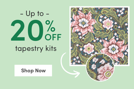Up to 20 percent off tapestry kits