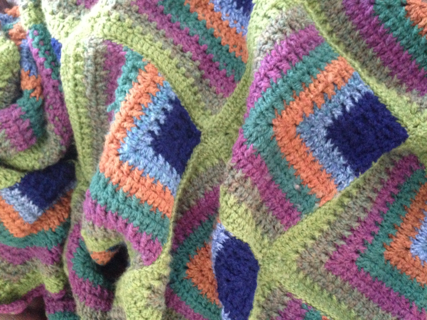 how to craft ladders mitered squares blanket crochet project by susan h 4716