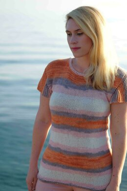 Oh-Pa! Top in Knit One Crochet Too Ty-Dy Cotton - 2449 - Downloadable PDF