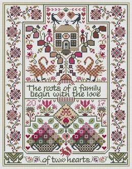 Long Dog Samplers The Love of Two Hearts Cross Stitch Chart - 2002033 -  Leaflet