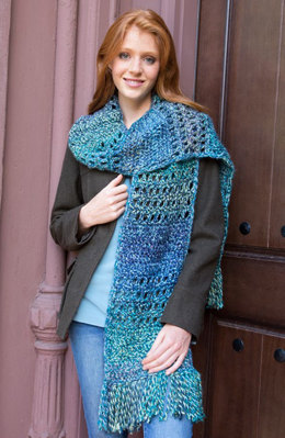 The Big Easy Scarf in Red Heart Medley - LW4947 - Downloadable PDF
