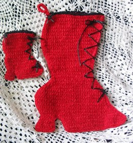 Victorian Boot Stocking and Ornament