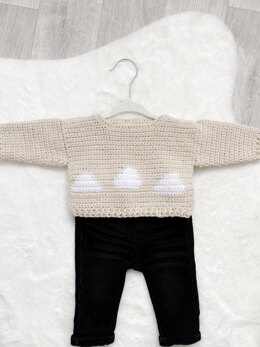 In the Clouds Baby Sweater
