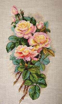 Merejka Vintage Roses Cross stitch kit - 29cm x 29cm