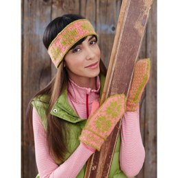 Fair Isle Ski Band and Mittens in Patons Decor