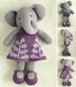 Girl Elephant in a Frondy Frock