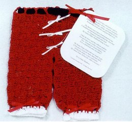 0198 Santa Pants Dishcloth & Poem
