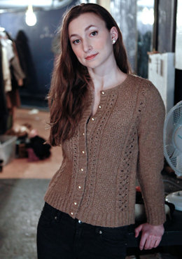 Taina Cardigan in Berroco Flicker Aran