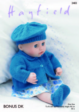 Jacket, Beret, Shoes & Pants in Hayfield Bonus DK - 2483 - Downloadable PDF