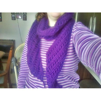 Crooked Eyelets Scarf