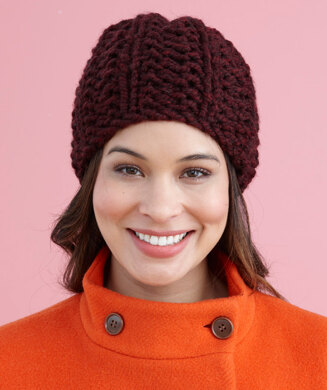 Brisbane Hat in Lion Brand Wool-Ease Thick   Quick - L20506C ... 3a05a031e48