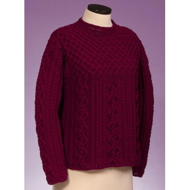 Cable and Lattice Pullover #130