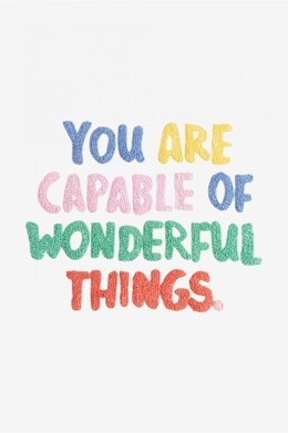 DMC You Are Capable of Wonderful Things - PAT1183S - Downloadable PDF