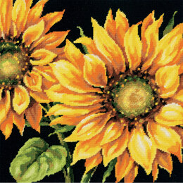 Dimensions Dramatic Sunflower Needlepoint Kit - 35.5 x 35.5 cm
