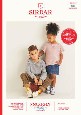Children's Sweaters in Sirdar Snuggly Replay DK - 2536 - Leaflet