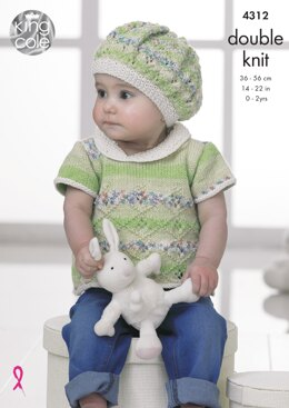 Baby Set in King Cole DK - 4312 - Downloadable PDF