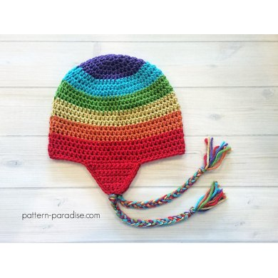 Easy Earflap Hat Crochet Pattern By Pattern Paradise