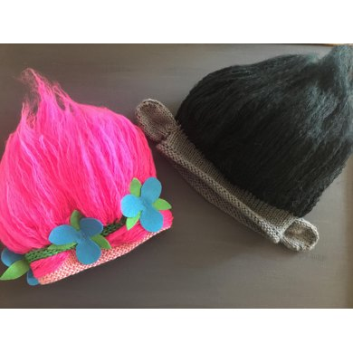 Princess Poppy and Branch inspired Troll Hats